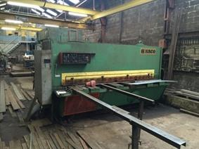 Haco TS 3100 x 12 mm, Hydraulic guillotine shears