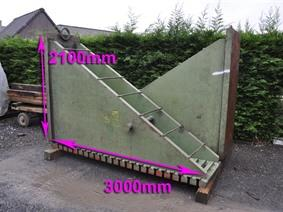 Clamping bracket 3000 x 800 x 2100 mm, Cubic- & angleplates or tables