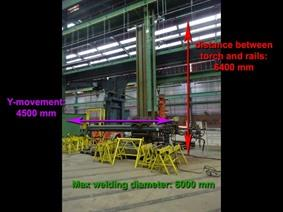 Esab Weldingcrane for composite beams/tanks, Obrotnice, Obrotniki spawalnicze, Weldingdericks i pinchtables