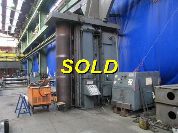 Hugh Smith 1200 ton x 4110 mm, Flanging presses