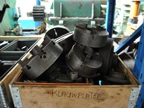 Chucks many different kinds in stock, Spare parts for Lathes