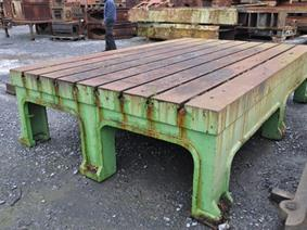 Welding table 3410 x 2150 mm, Piastre e basamenti