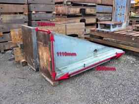 Clamping bracket 3000 x 1110 x 750 mm, Opspanblokken - Hoekplaten & Opspantafels