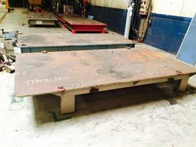 Welding table 3200 x 1730 mm, Piastre e basamenti