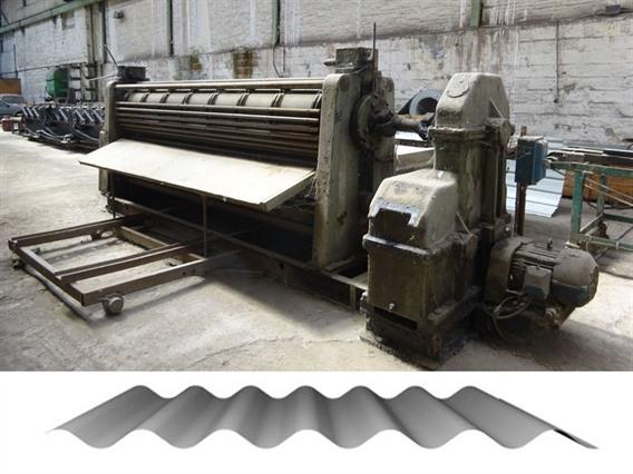 Eichener corrugated sheets, 3700 mm