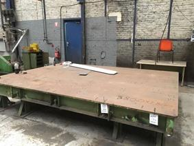 Clamping table 3860 x 2800 mm, Piastre e basamenti