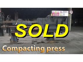 Lindemann Scrap balling press - 150 ton, Presses a paqueter