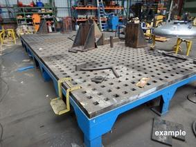 Large clamping table 13 000 x 4000 mm, Cubic- & angleplates or tables
