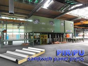 Wemhörner VSF 600 ton sandwich panelpress, Die casting presses & Induction furnaces