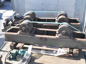 Armco welding rotators 15 ton, Turning gears - Positioners - Welding dericks & -pinchtables