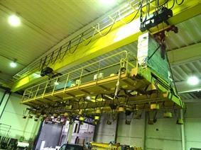 Fimec crane with magnetic plate hoist 15 ton, Ponts Roulants, Palans & Grues