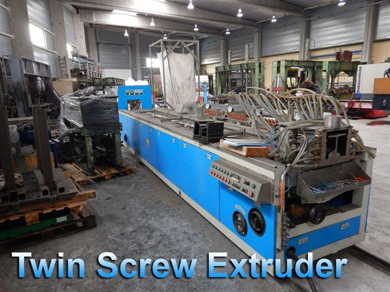 Polytech Twin screw extruder, PVC extrusion line