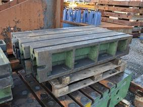8 support blocs 1500 x 160 x 180 mm, Opspanblokken - Hoekplaten & Opspantafels