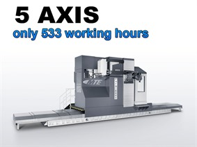 MTE FBF-S 6000 X: 6000 - Y: 1200 - Z: 1500 mm, Bed milling machine with moving column & CNC