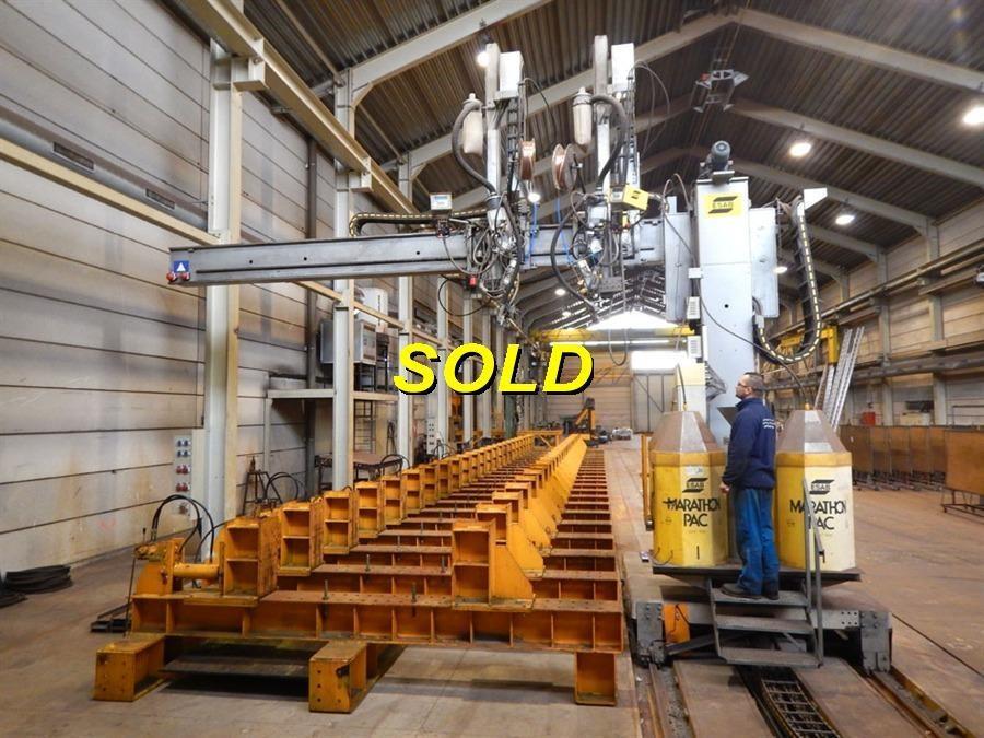 Esab welding crane - for composite beams   Lasrolstellingen