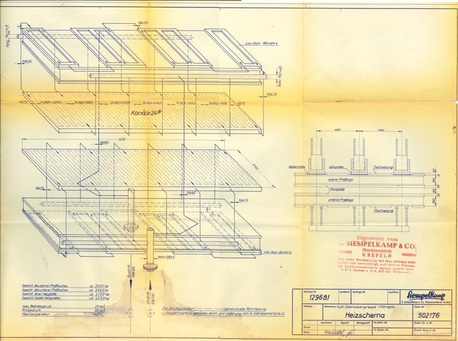 Siempelkamp panel press - 470 ton | 4 column single action presses ...
