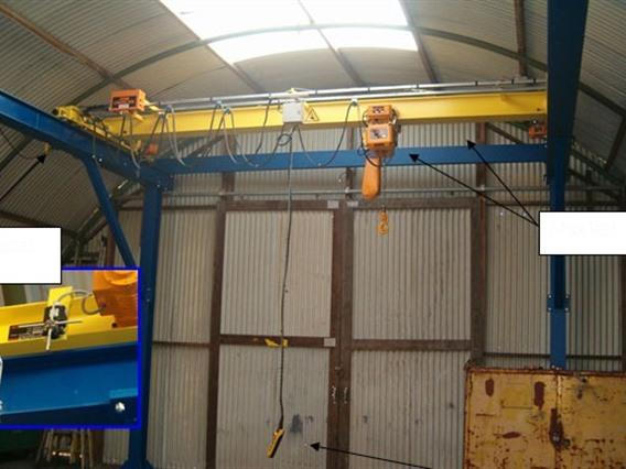 Kito 2 ton x 4500 mm, Conveyors, Overhead Travelling Crane, Jig Cranes
