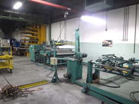 Jouanel slitting and cut to length line 1250 x 2mm, Ligne de refendage de toles